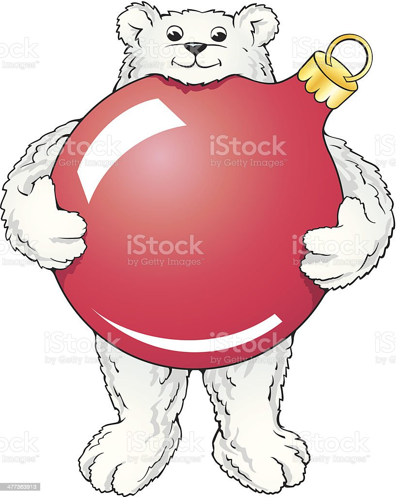 Polar Bear Ornament C royalty-free stock vector art