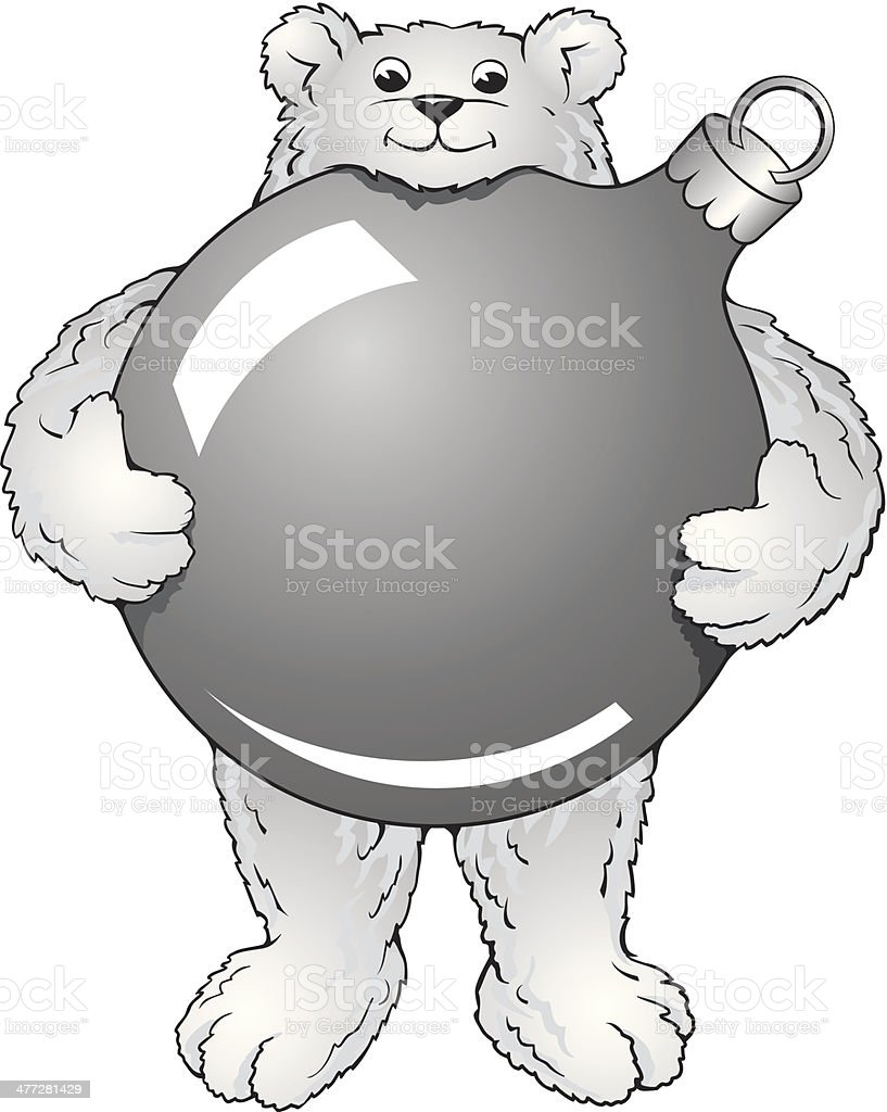 Polar Bear Ornament royalty-free stock vector art