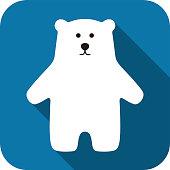 Polar bear standing icon design
