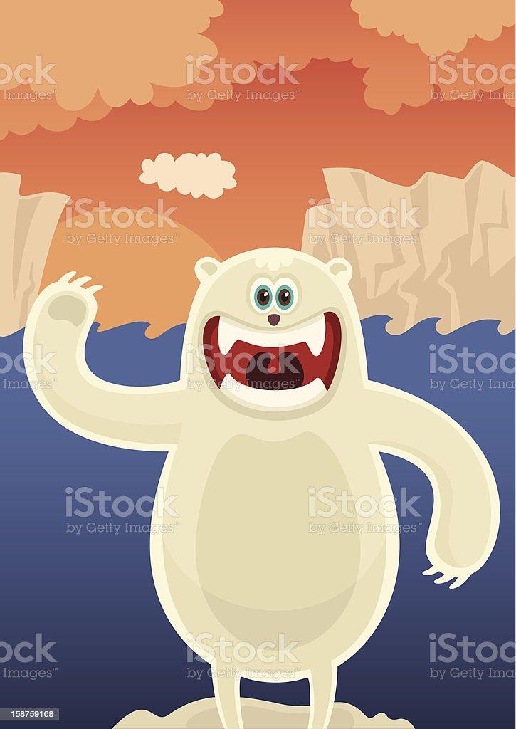 Polar bear. royalty-free stock vector art