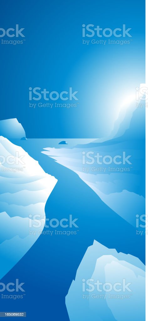 Polar Creek vector art illustration