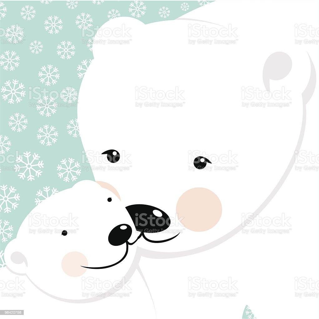 Polar Love vector art illustration