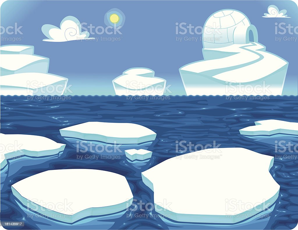Polar scene. royalty-free stock vector art