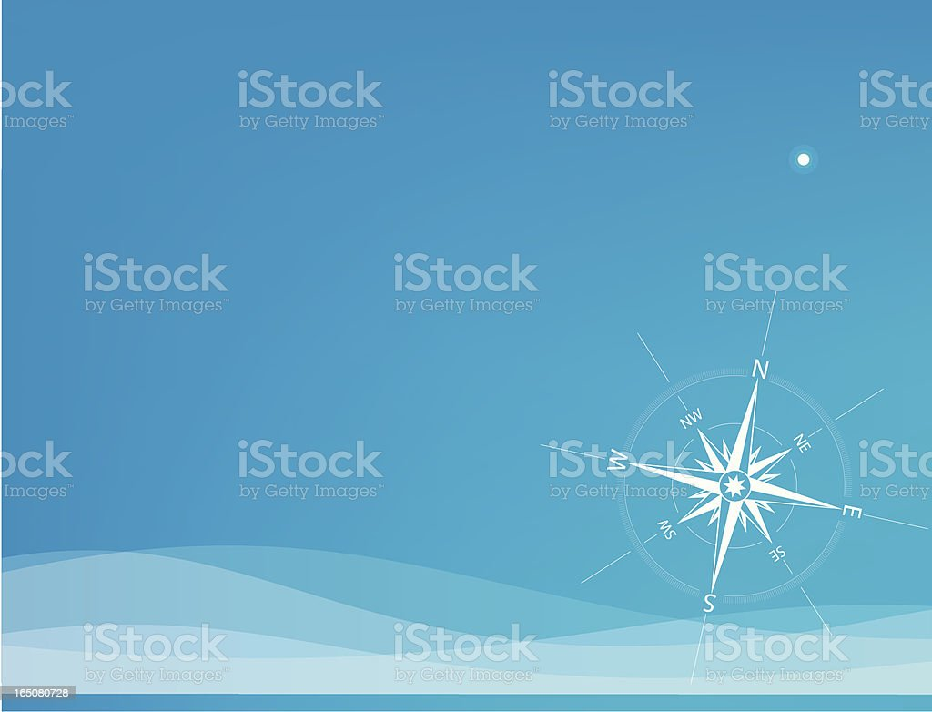 Polar Star vector art illustration