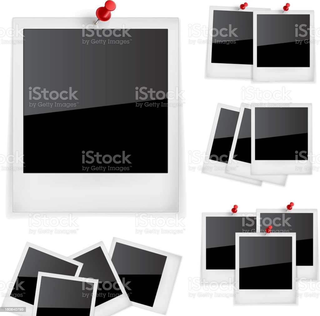 Polariod frames photo vector art illustration