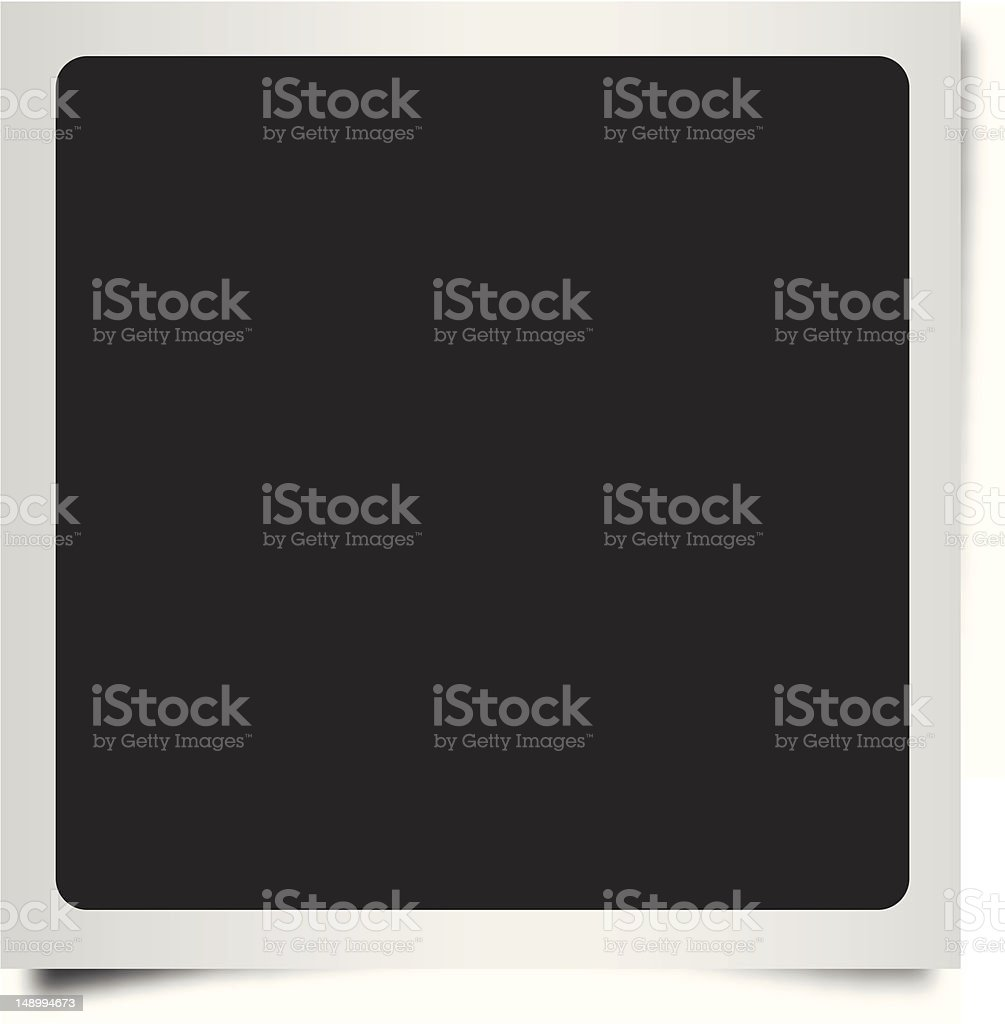 Polaroid Frame. Square with Rounded Edges. vector art illustration