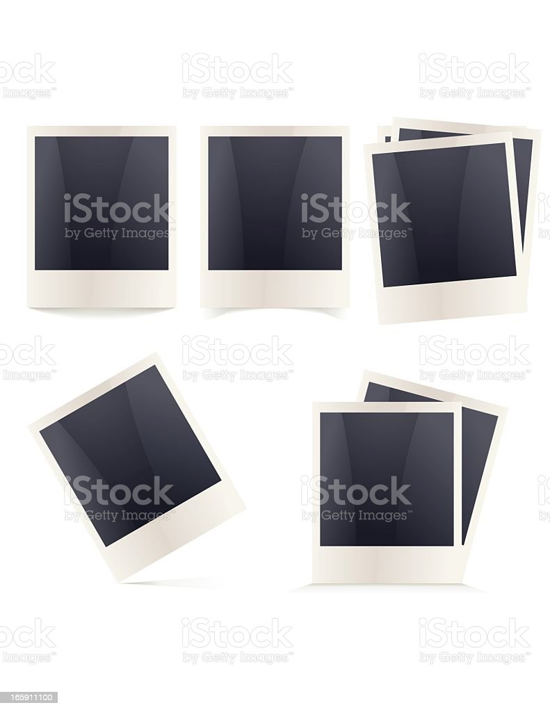 Polaroid Frames vector art illustration