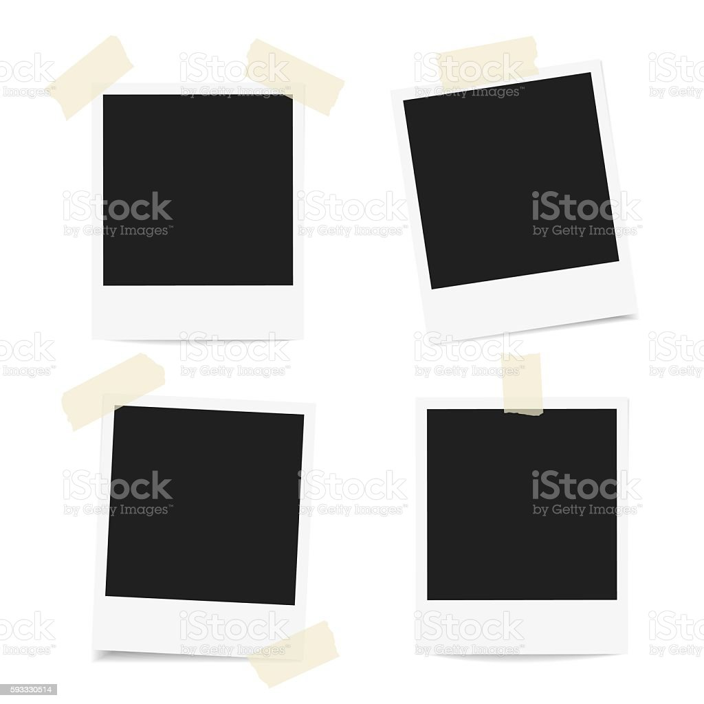 Polaroid Photo frames vector art illustration