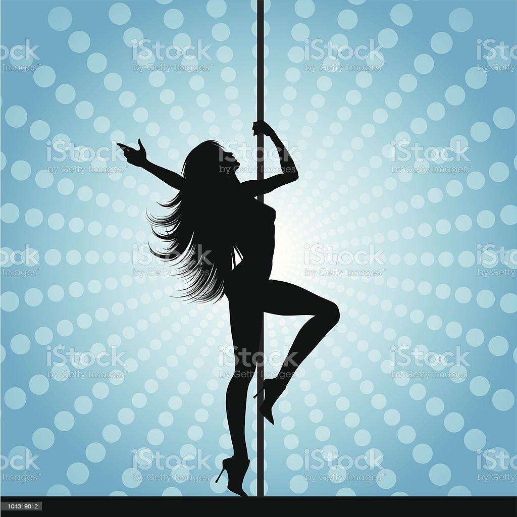 Pole dancer royalty-free stock vector art