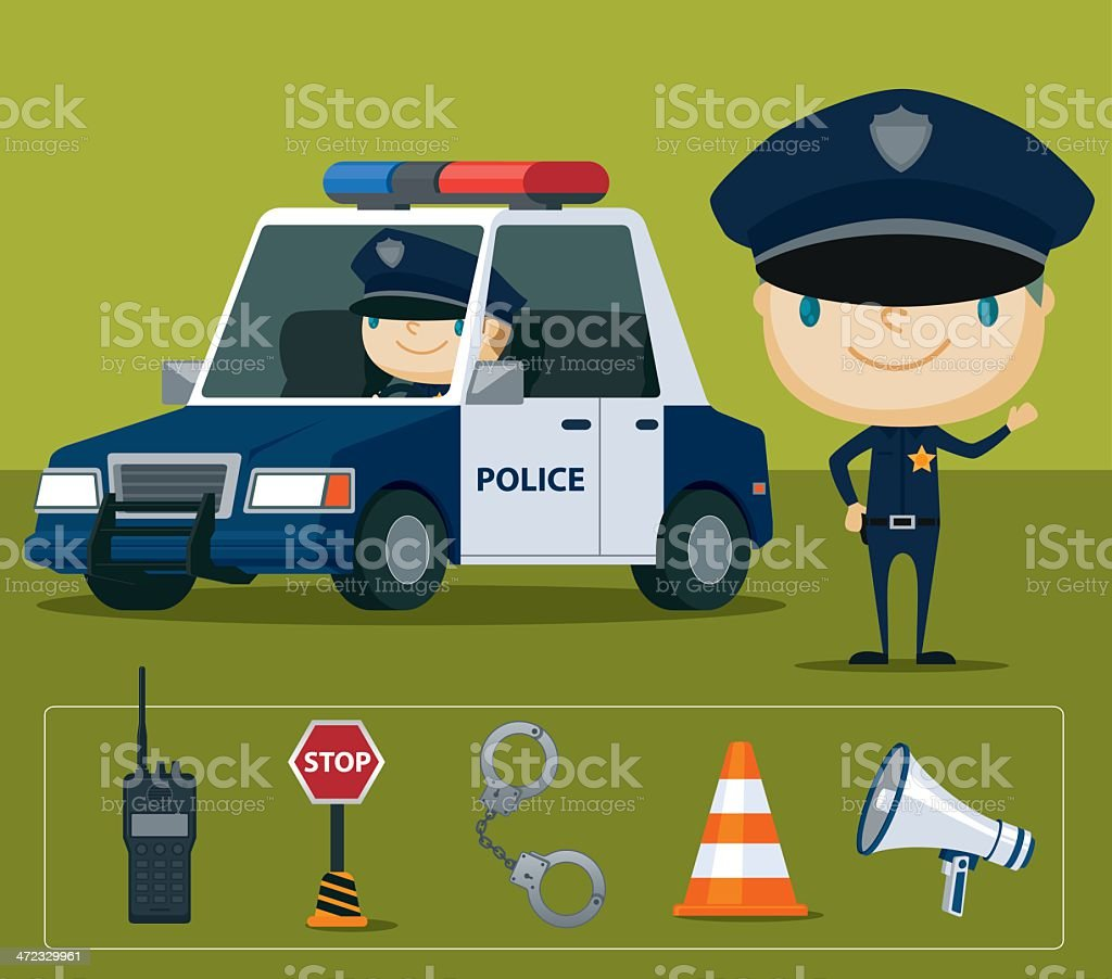Police and law enforcement collection royalty-free stock vector art