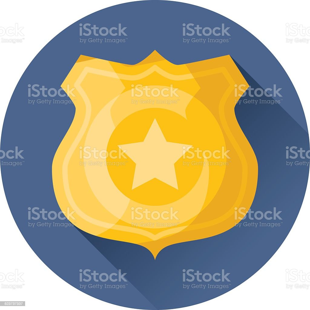 police badge icon vector art illustration