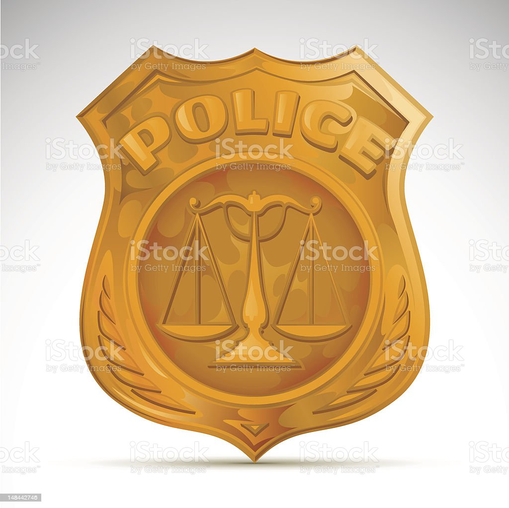 police badge vector art illustration