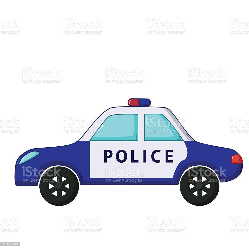 Police Car Icon Cartoon Style Stock Vector Art 516043024