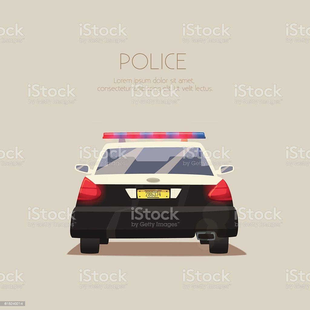 Police car. Vector cartoon illustration vector art illustration