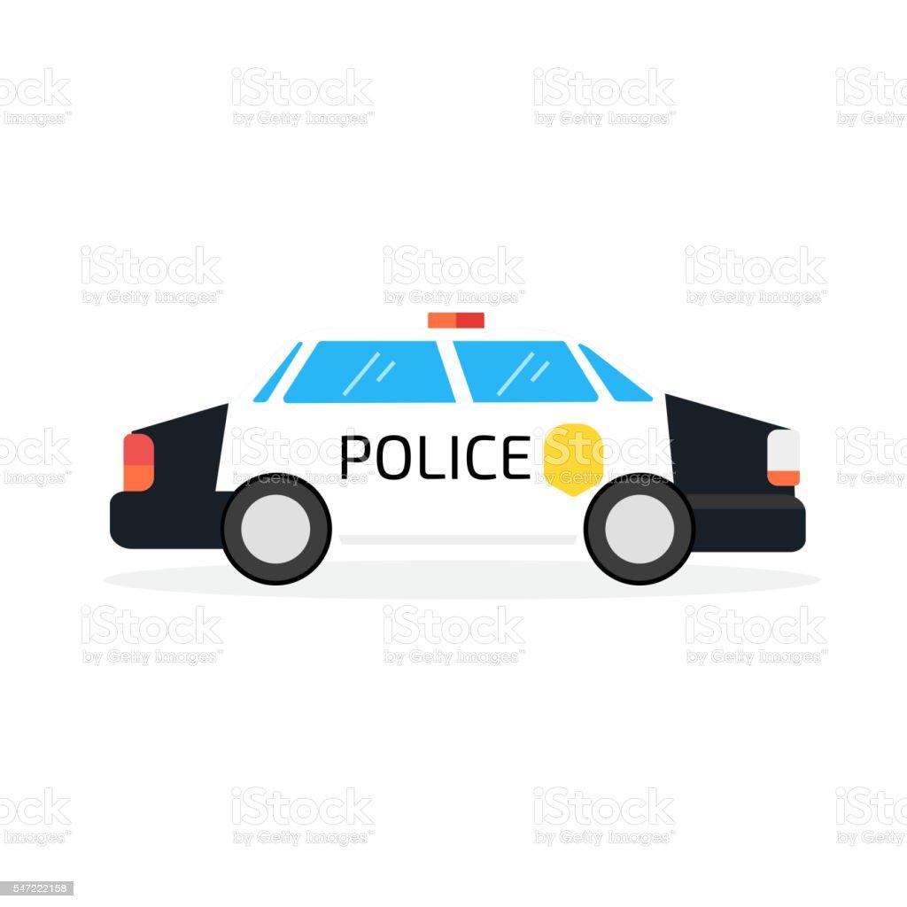 police car vector art illustration