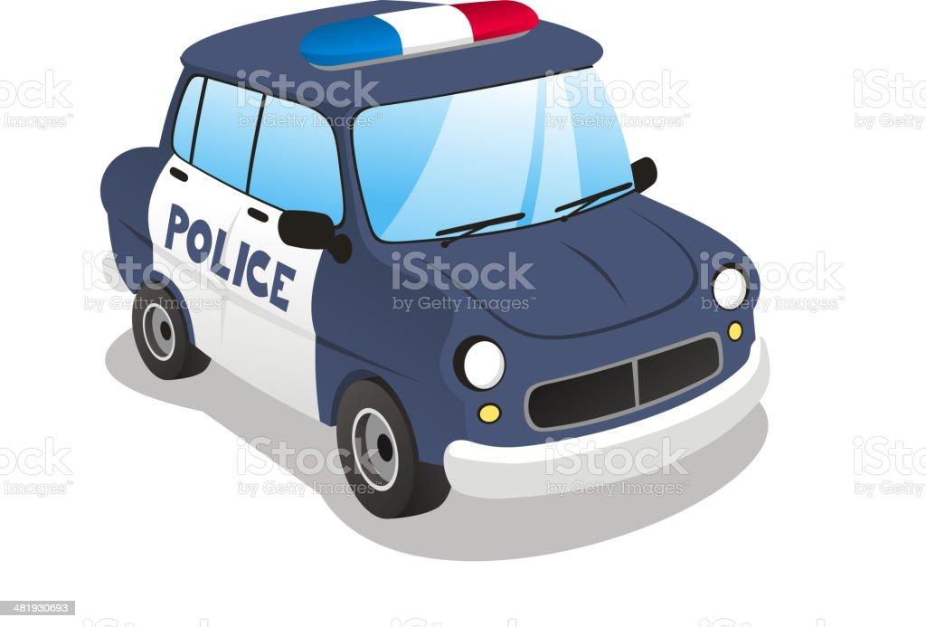 Police cartoon car vector illustration vector art illustration