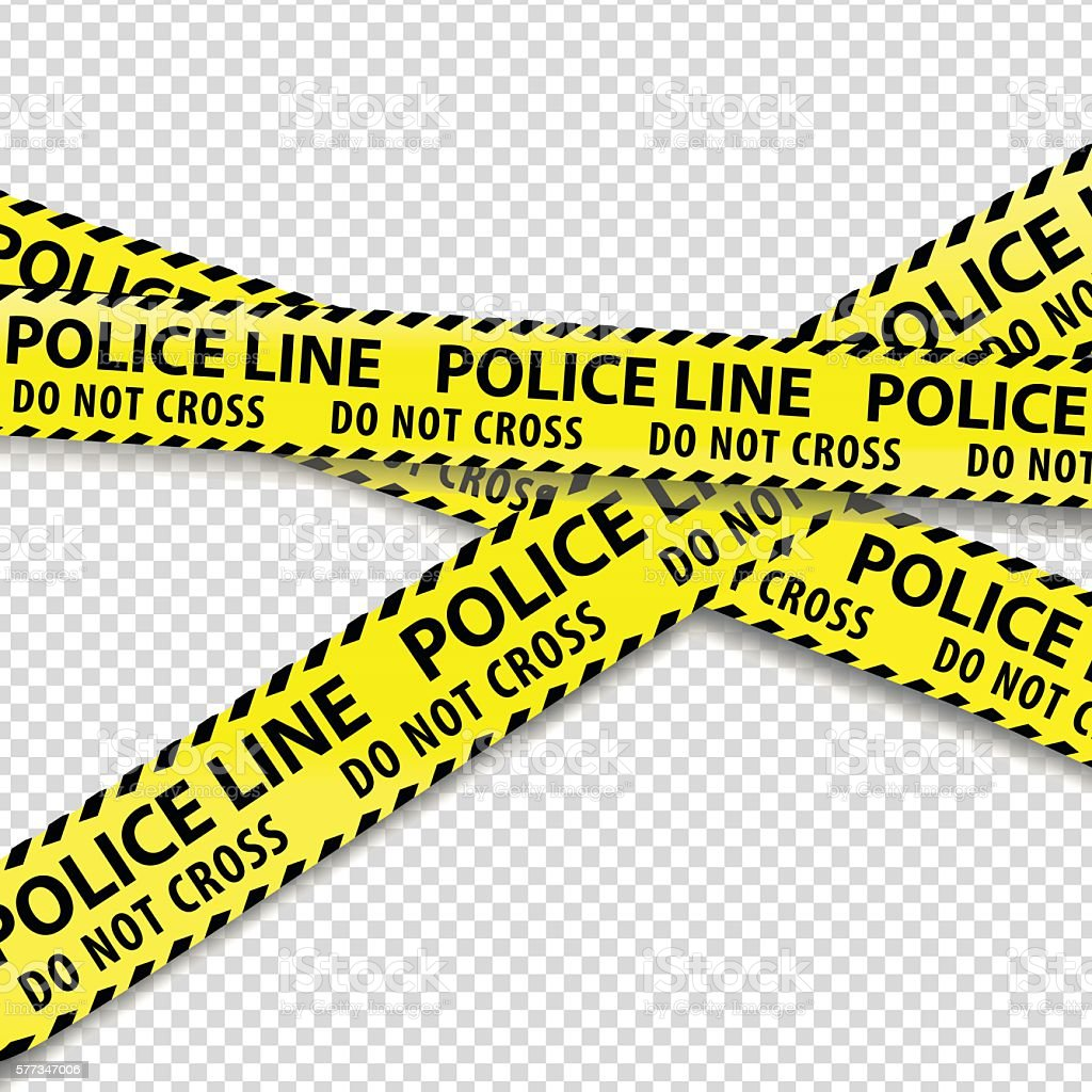 Police cordon tapes. vector art illustration