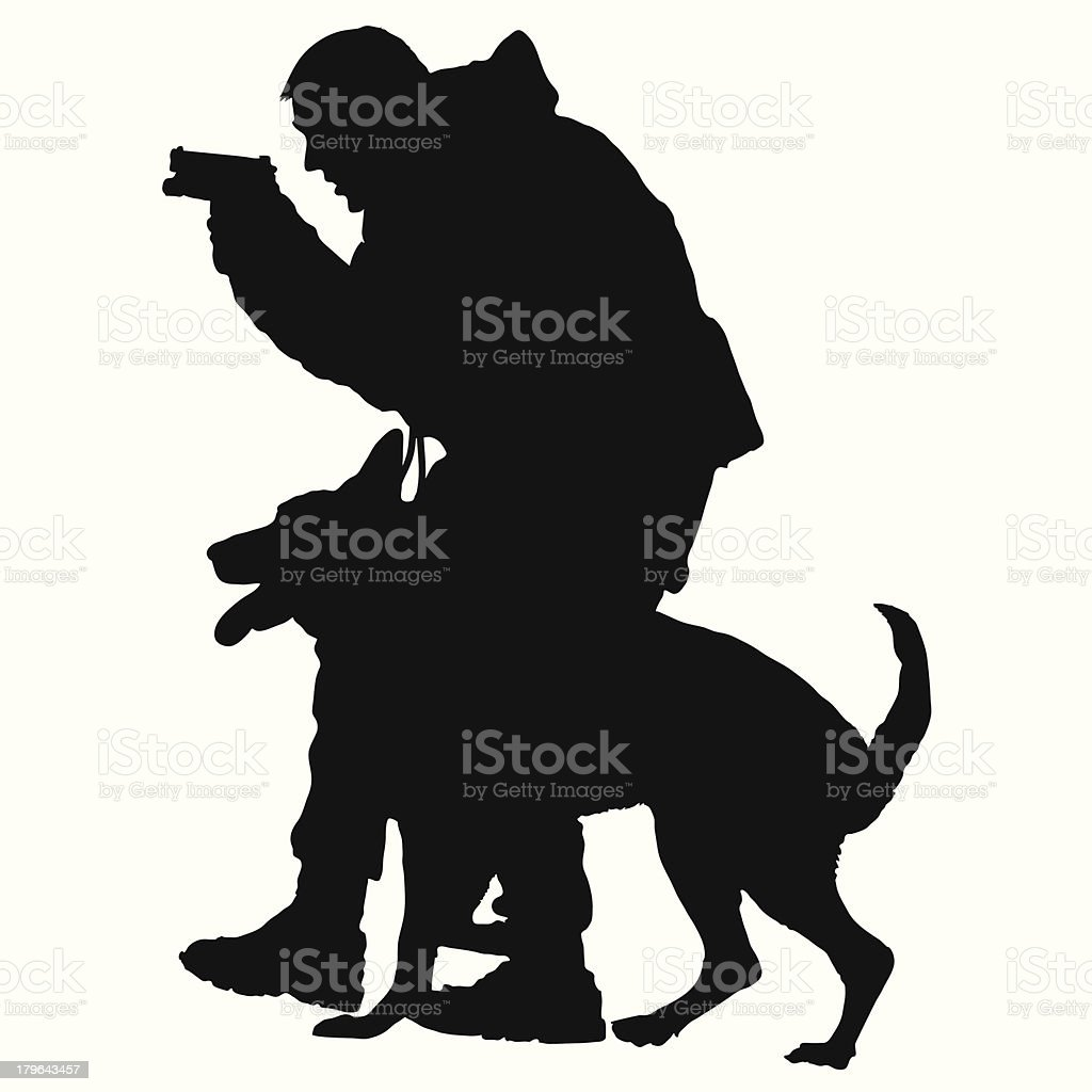 Police Dog 1 royalty-free stock vector art