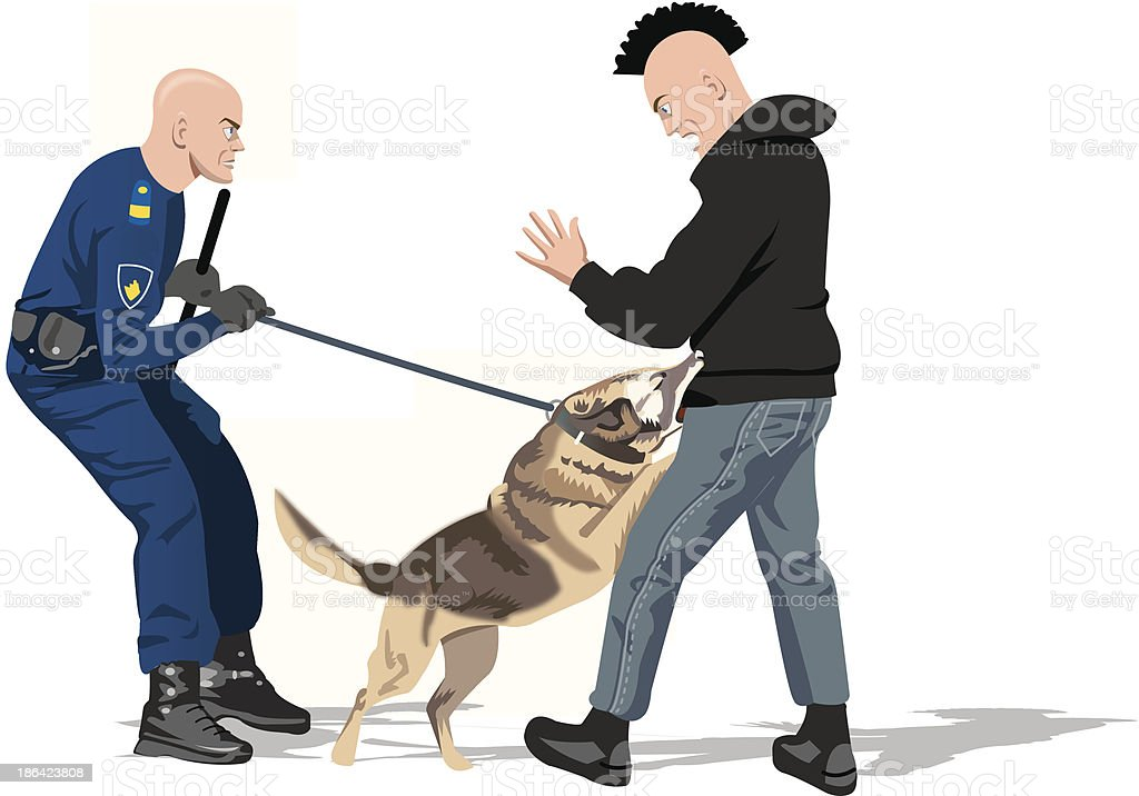 Police Dog Attacks stock vector art 186423808 | iStock