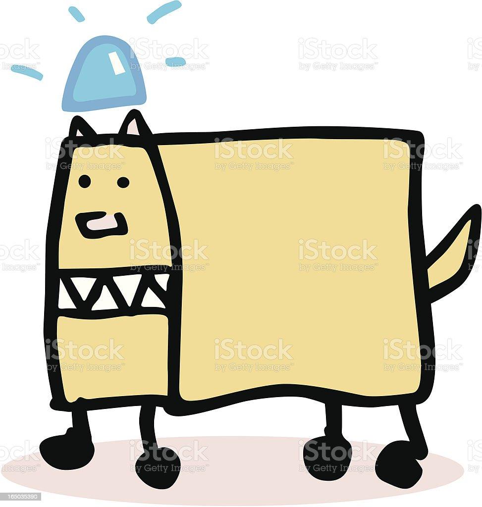 Police Dog royalty-free stock vector art