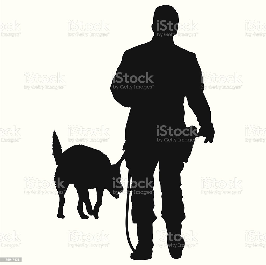 Police Dog royalty-free stock vector art