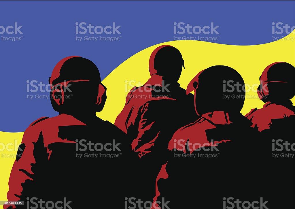 Police force of Ukraine royalty-free stock vector art