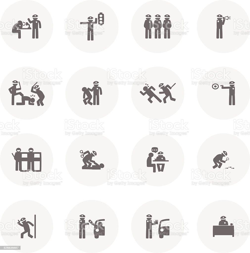 Police Icon vector art illustration
