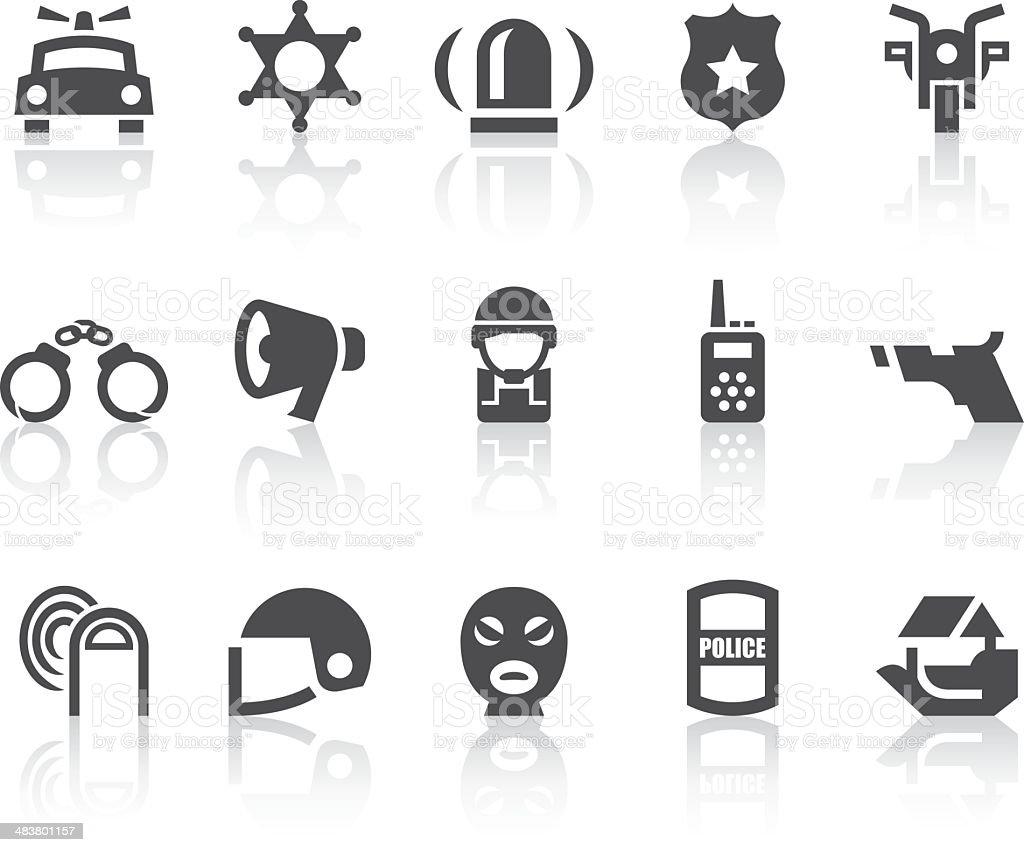 Police Icons | Simple Black Series vector art illustration