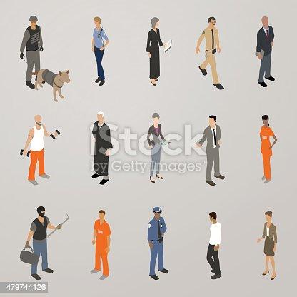 Law people illustration