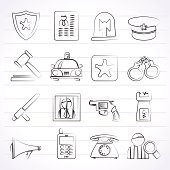 police, law and security icons