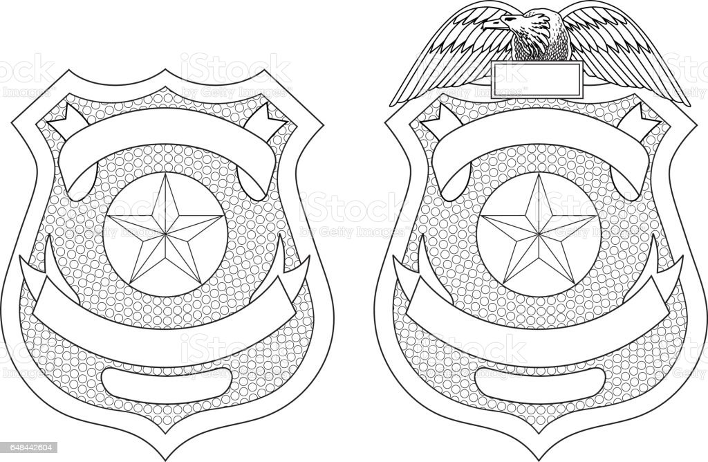 Police Law Enforcement Badge or Shield vector art illustration