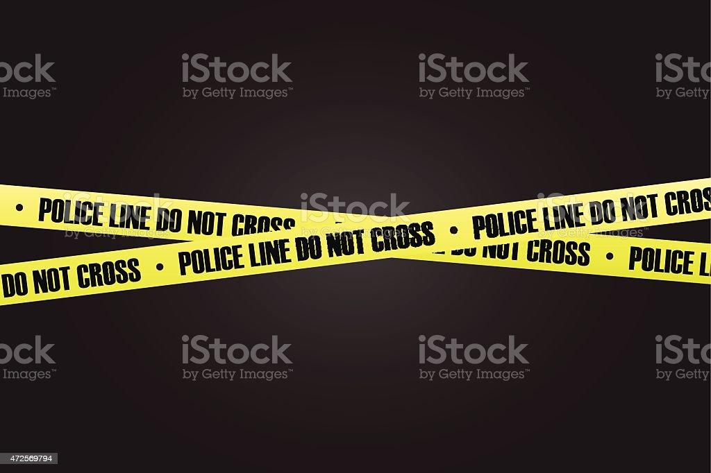 Police line do not cross vector vector art illustration