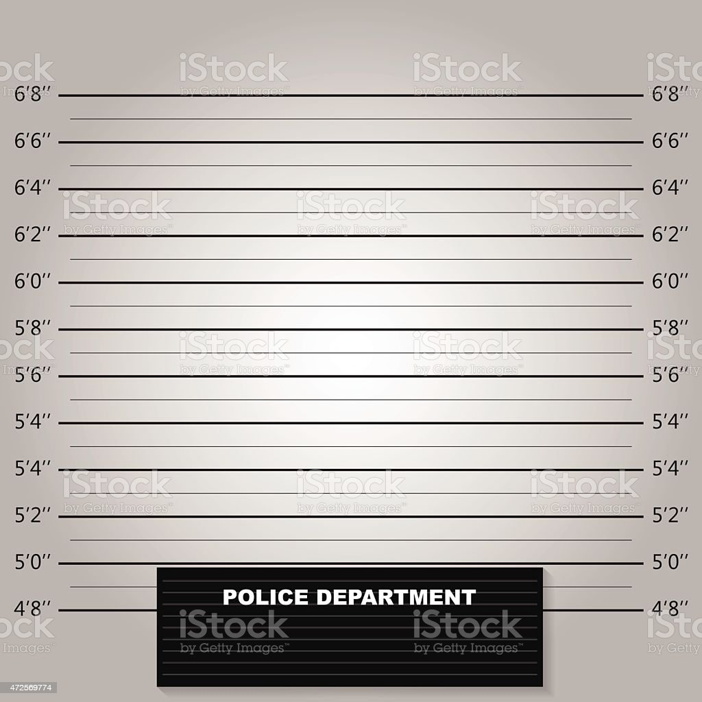 Police lineup or mugshot background vector vector art illustration