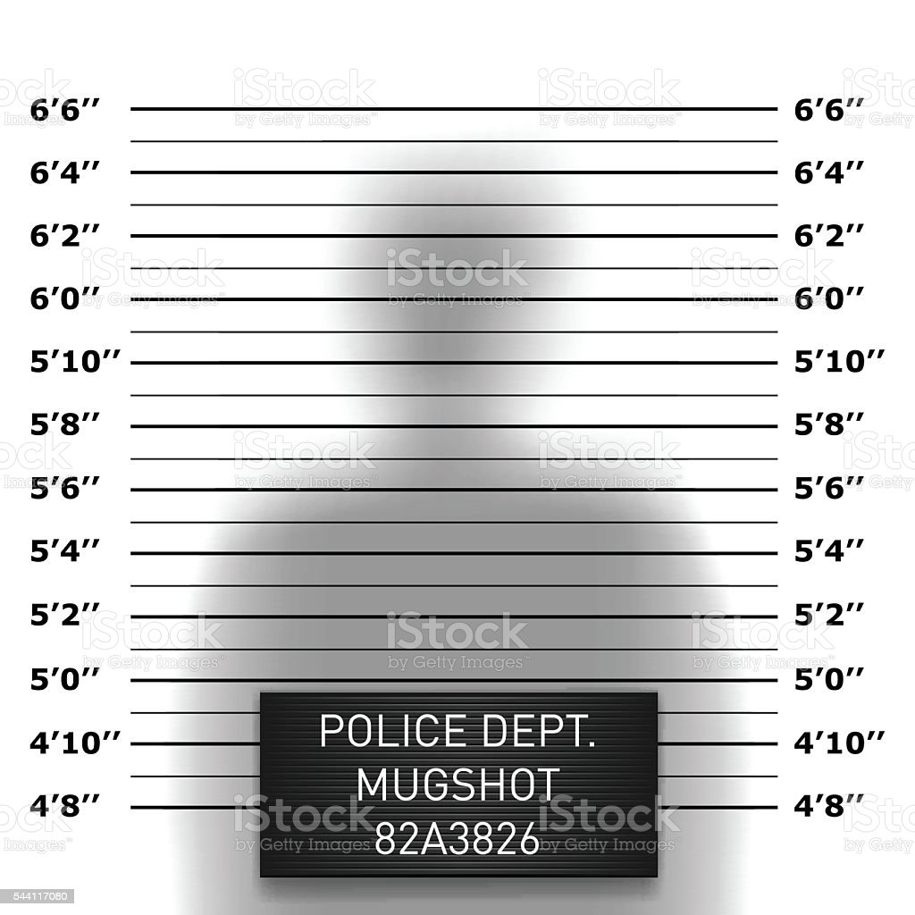 Police mugshot template vector art illustration