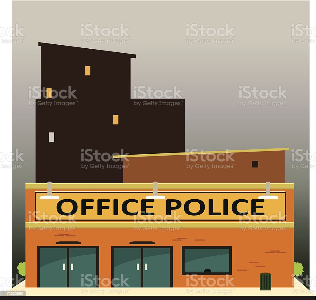 police office vector art illustration