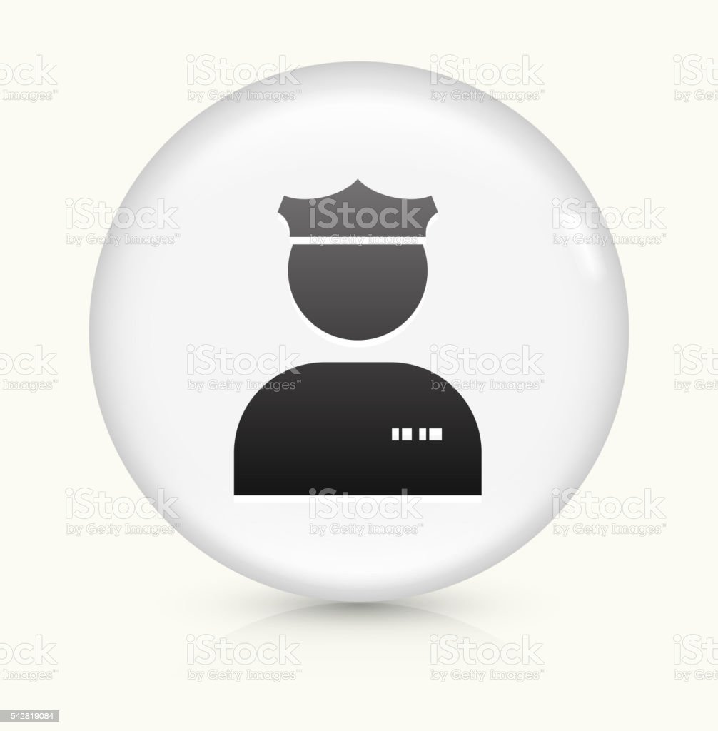 Police Officer icon on white round vector button vector art illustration