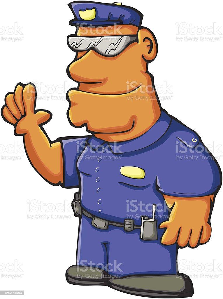 Police Officer vector art illustration
