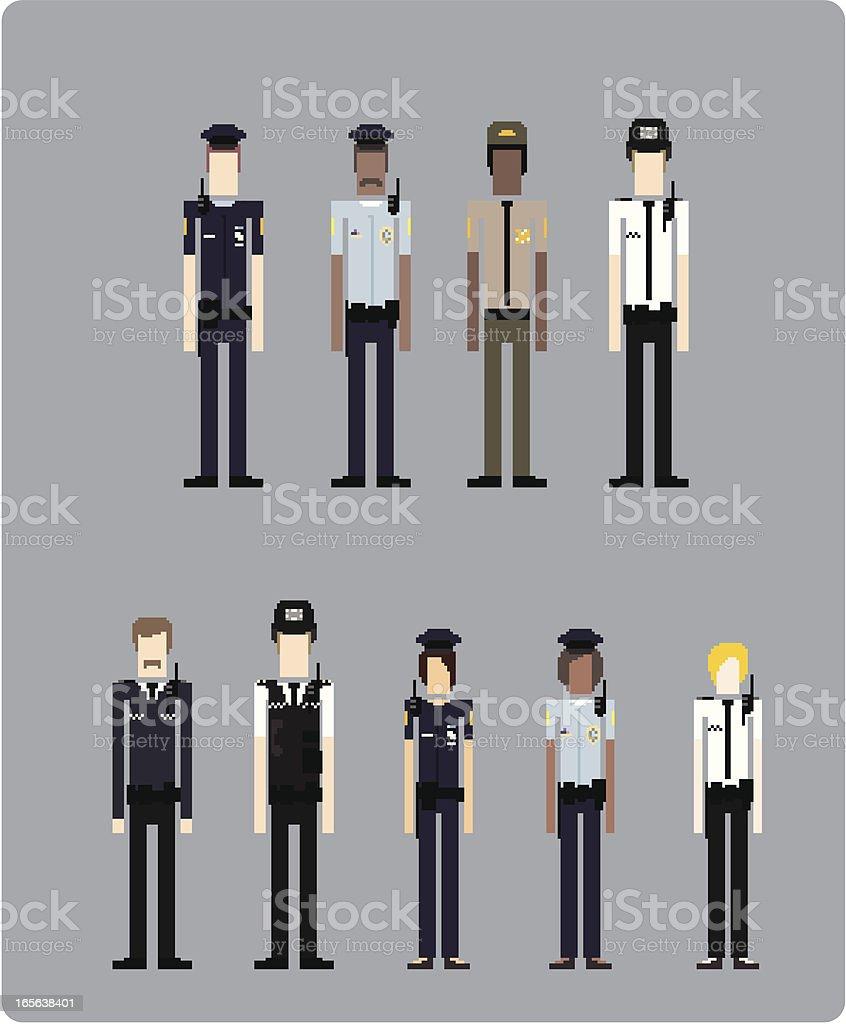 Police Officer (vector) vector art illustration
