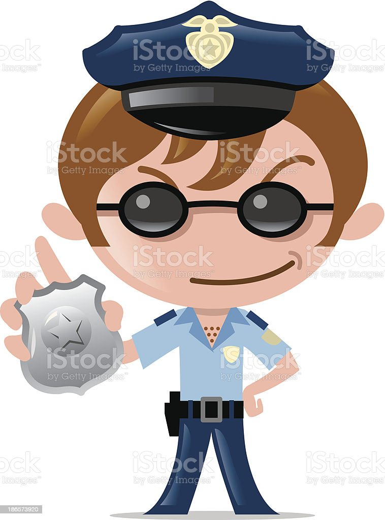 police officer royalty-free stock vector art