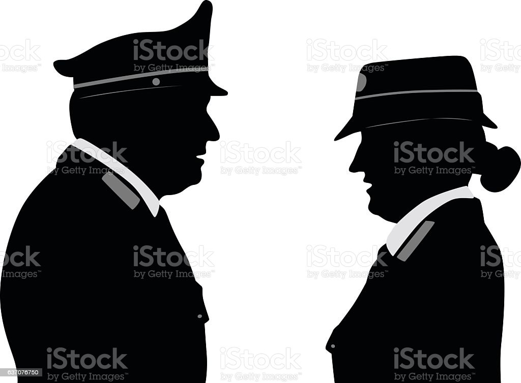 Police Profile Italy vector art illustration