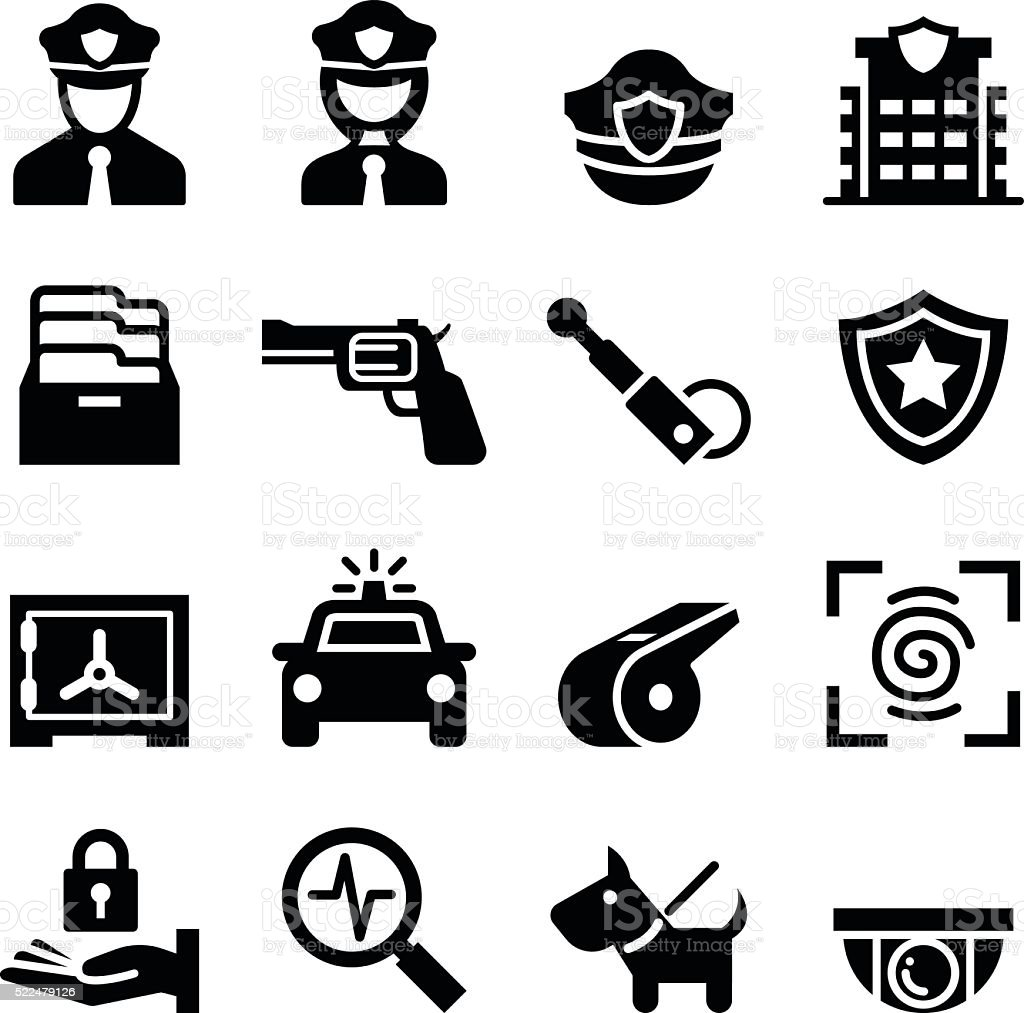 Police & Security guard icon vector art illustration