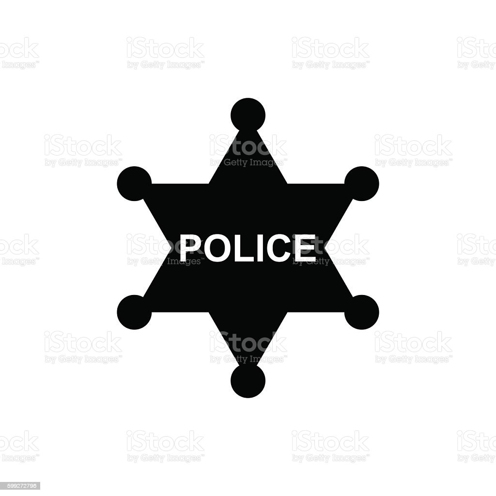 Police star icon. Vector illustration vector art illustration