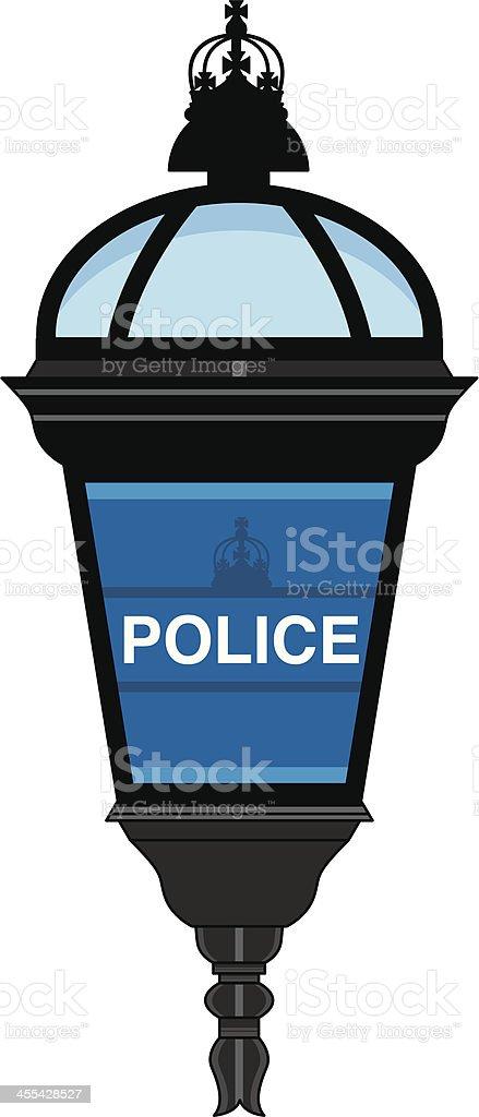 Police Station Lamp vector art illustration