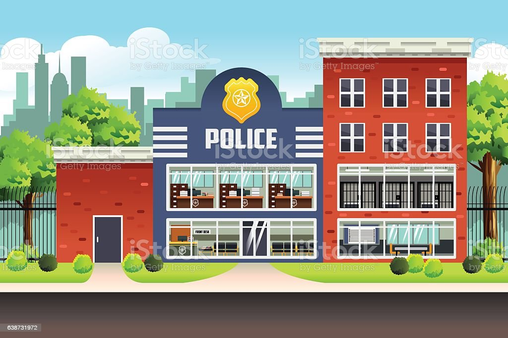 Police station clipart  Police Station Clip Art, Vector Images & Illustrations - iStock