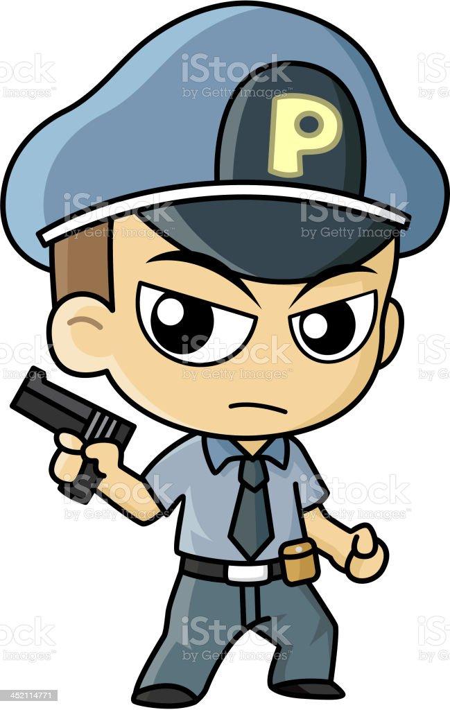 Police Vector Cartoon vector art illustration
