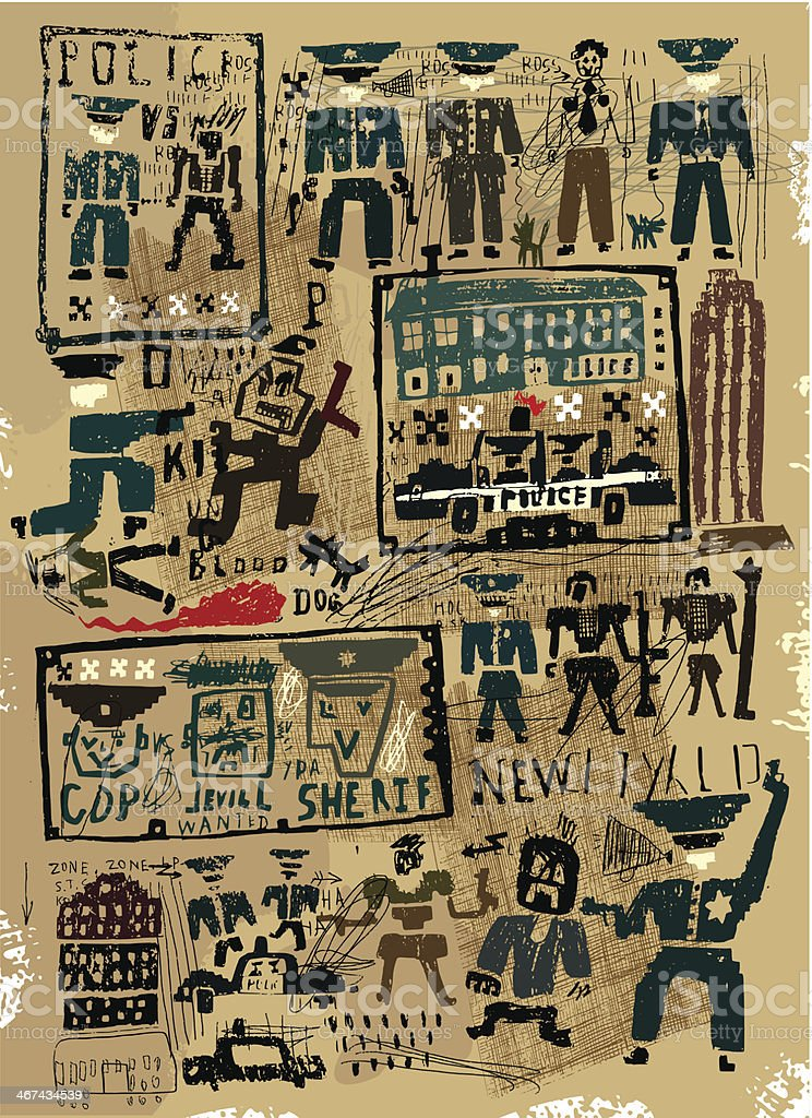 Police vector art illustration