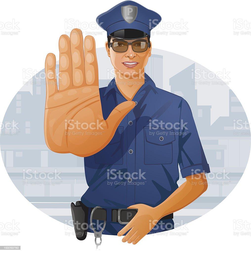 Policeman vector art illustration