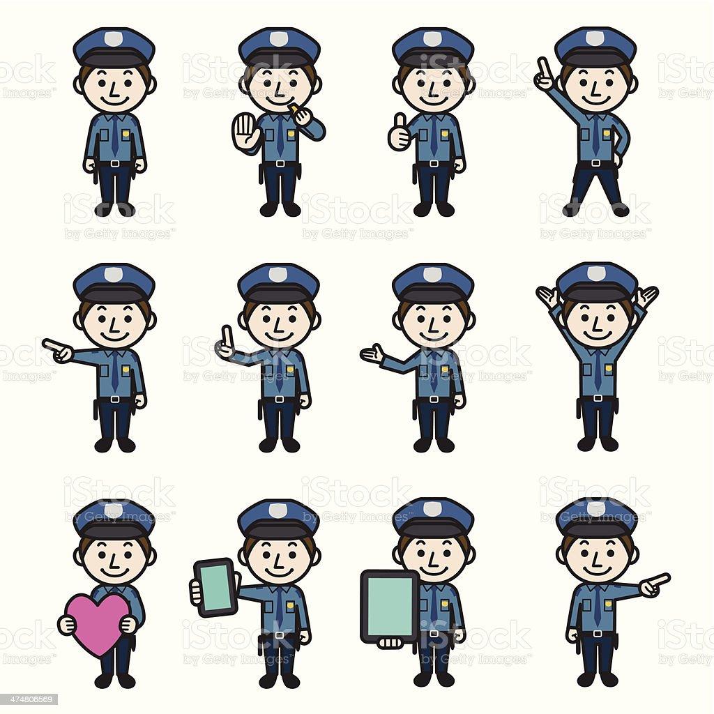 Policeman royalty-free stock vector art