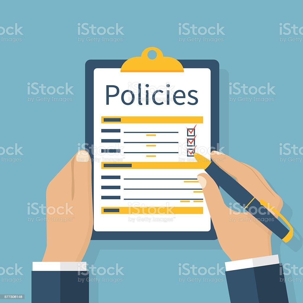 Policies vector illustration vector art illustration