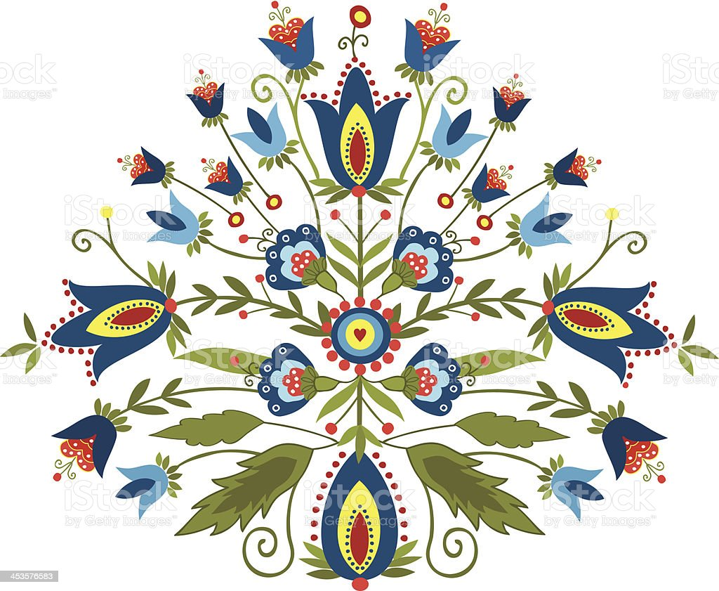 Polish embroidery design - inspiration vector art illustration